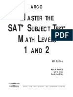 Master the SAT Subject Test-Math Level 1 and 2