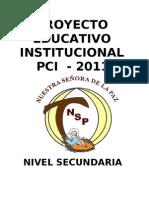 Proyecto Educativo Institucional - La Paz - Lima