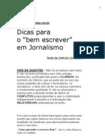 Dicas Para Escrever Bem No Jornalismo - CARLOS CHAPARRO