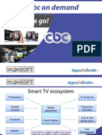 TV on Demand with Apps and icloud solution for on the Go.