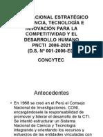 Plan Nacional Estratégico de Ciencia, Tecnología e Innovación para el Desarrollo Humano_ CONCyTEC