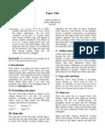 Ijcst Paper Format
