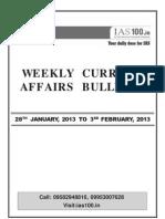 Weekly 28th Jan to 3rd Feb 2013 Web
