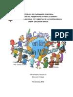 La Cultura en la Educación Multicultural