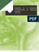 Memoria de IV Congreso Internacional de Medicina Forense