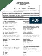 6° PRUEBA MEDIOS DE COMUNICACION