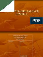 Estructura Del Balance General Ppt