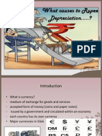 causes for Rupee depreciation