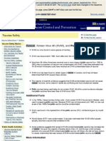 CDC fact sheet on Simian Virus 40 (SV40), cancer, and Polio Vaccine