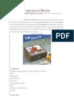 Como hacer cajas para té filtrante
