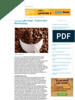 Kandungan Kopi - Kafein Dan Manfaatnya