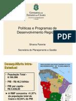 Políticas e Programas de Desenvolvimento Regional - CEARA