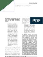 Sobre a pesquisa e o ensino de História da Educação brasileira