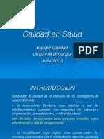 PRESENTACION Comité calidad CESFAM Boca Sur
