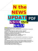 "DL, 6/6/13 to 8/4/13 ""IN the NEWS"" with FAITH INSPIRATION UPDATE, 6/6/13 thru 8/4/13"