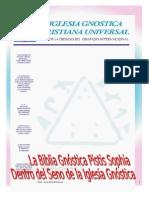 Libro la Biblia Gnostica Pistis Sophia Edición 2002