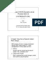 Aplikasi HYSYS Dynamic Untuk Process Control1