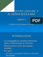 COMPUERTAS LÓGICAS Y ÁLGEBRA BOOLEANA(capitulo 3)