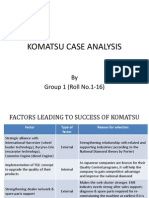 KOMATSU Case Solution