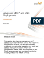 Advanced DHCP and DNS Deployments