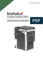 Bizhub c203 c253 c353 Print Operations 2-1-1 Es