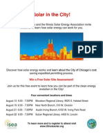ISEA City of Chicago Solar August Events Flyer