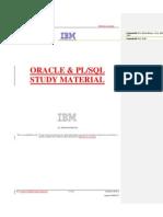 18151673 Oracle PLSQL Study Material