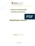 Manual de Instruções - Candidatura Eletrónica - Mobilidade Interna – 2013