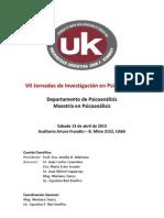 Jornadas de Investigación en Psicoanálisis