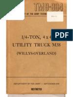 TM 9-804 M38 JEEP, 1950