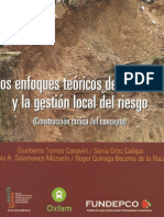 Enfoques Teoricos Del Desastre y La Gestion Local Del Riesgo