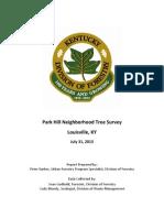 Park Hills Tree Survey Report