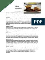 Los Mejores Cinco Restaurantes en Lima