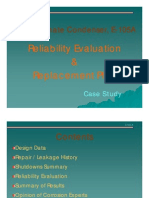 Case Study E105A Reliability Assessment & Replacement Plan