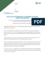 CT Pledge Drive Launch Press Release 051413