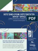 Studio for Students 2012/2013