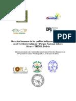Informe CIDH TIPNIS Bolivia