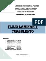 Practica de Lab Termofluiidos - Flujo Laminar y Turbulento