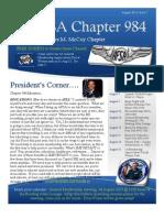 Chapter 984 August Newsletter