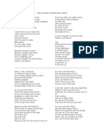 Jesus Christ Superstar Lyrics