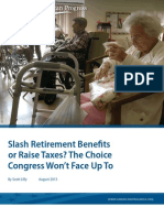 Slash Retirement Benefits or Raise Taxes? The Choice Congress Won't Face Up To