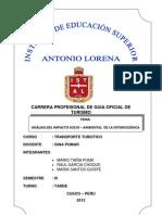 ANÁLISIS DEL IMPACTO AMBIENTAL SOCIAL DE LA INTEROCEÁNICA