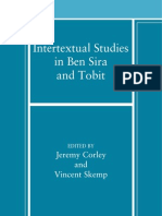 [Jeremy Corley, Vincent T. M. Skemp] Intertextual Studies in Ben Sira and Tobit
