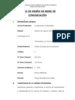 SILABO-Diseño de redes de comunicacion