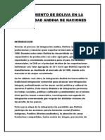 Crecimiento de Boliva en La Comunidad Andina