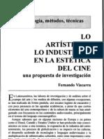 (Vizcarra, Fernando) Lo artístico y lo industrial en la estética del cine