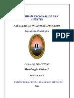 Guia de Practicas Estructura Cristalina de Los Metales