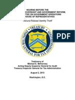 House Oversight 2013 Aug 02 TIGTA
