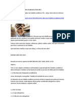 Normas ABNT para Trabalhos Acadêmicos 2012