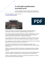 Kineske Vlasti Zabranile Muslimanima Ujgurima Ramazanski Post
